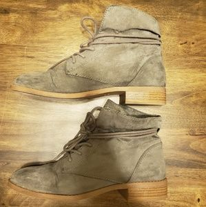 Forever 21 grey faux suede booties